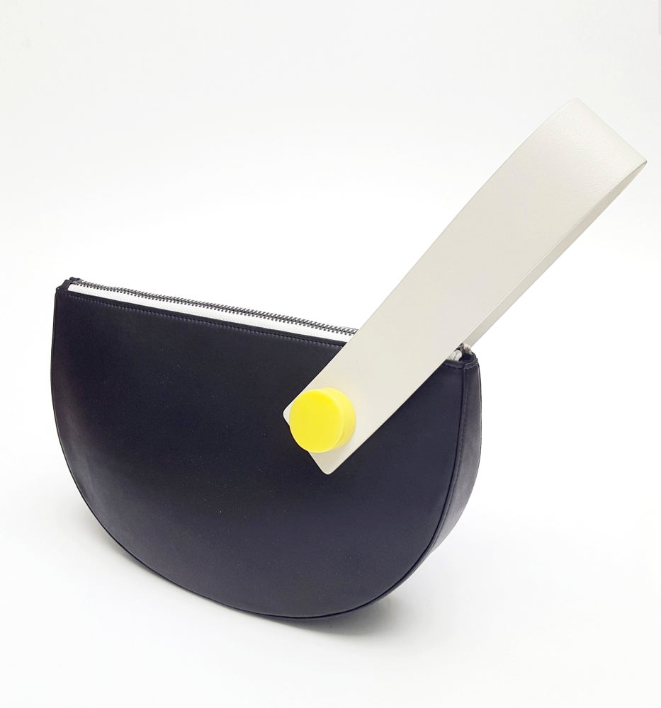 Image of Half Moon Clutch - Black