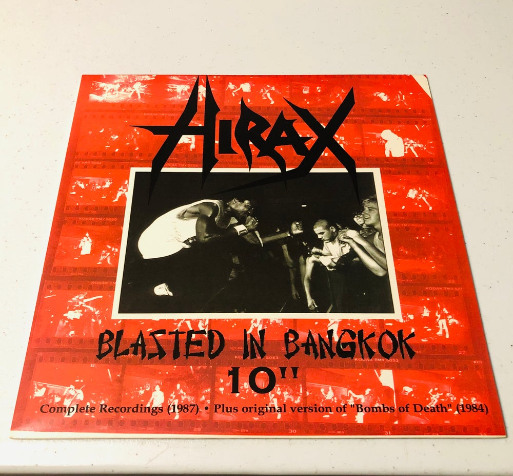 "HIRAX - ""Blasted in Bangkok"" (1987) 10"" white vinyl"
