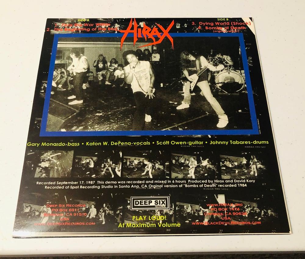 "HIRAX - ""Blasted in Bangkok"" (1987) 10"" white vinyl"
