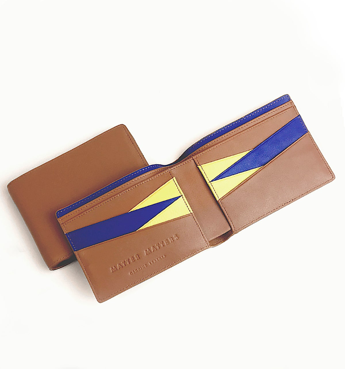 Image of BILLFOLD WALLET - Brown/ Blue