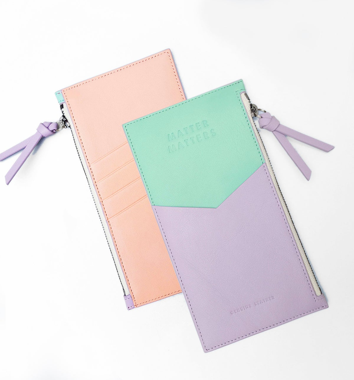 Image of Mini Zipped Pouch - Lilac  and Mint