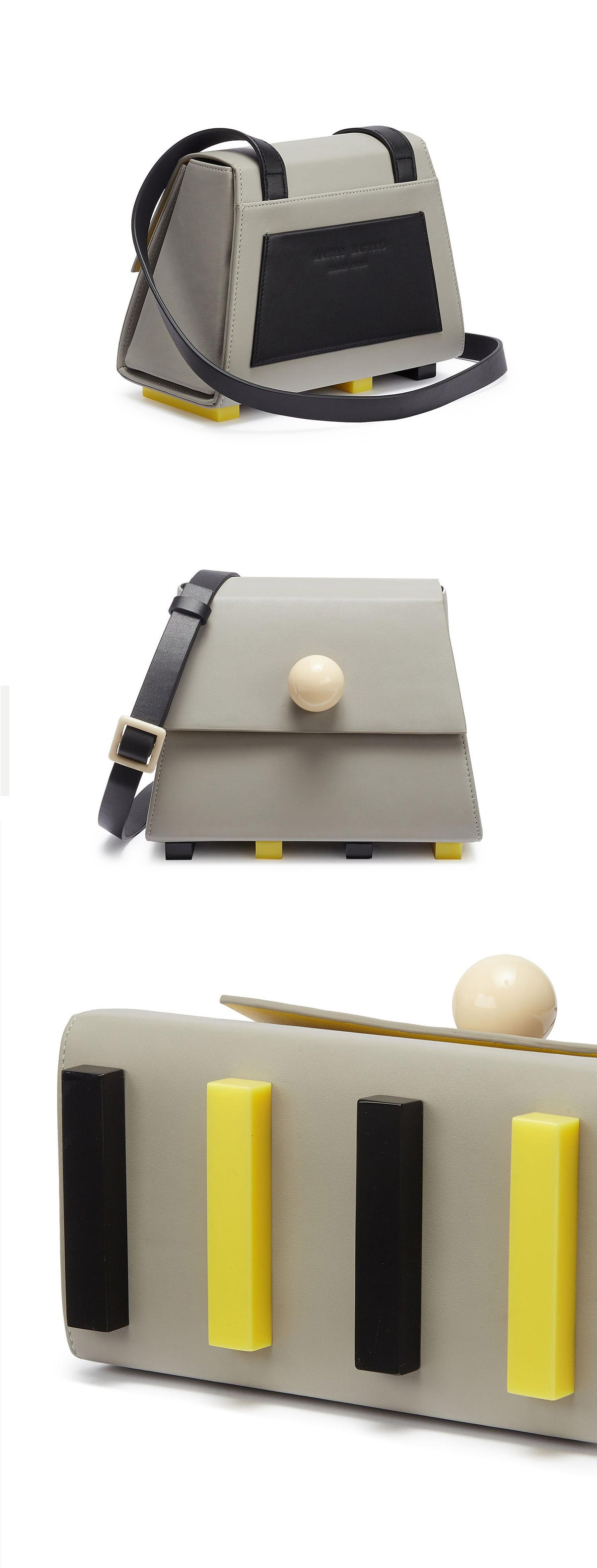 Image of The Mini trapezoid shoulder bag - Grey