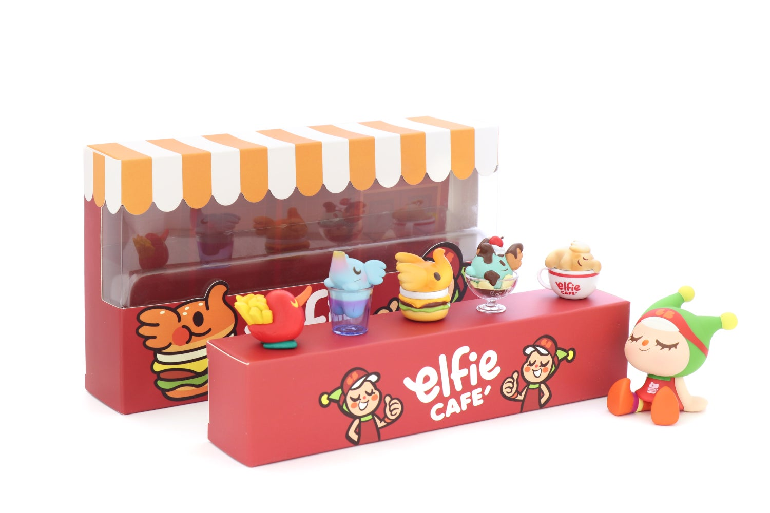 Image of ELFIE'S CAFE MINI FIGURE COMBO BOX SET  - WAREHOUSE FIND!