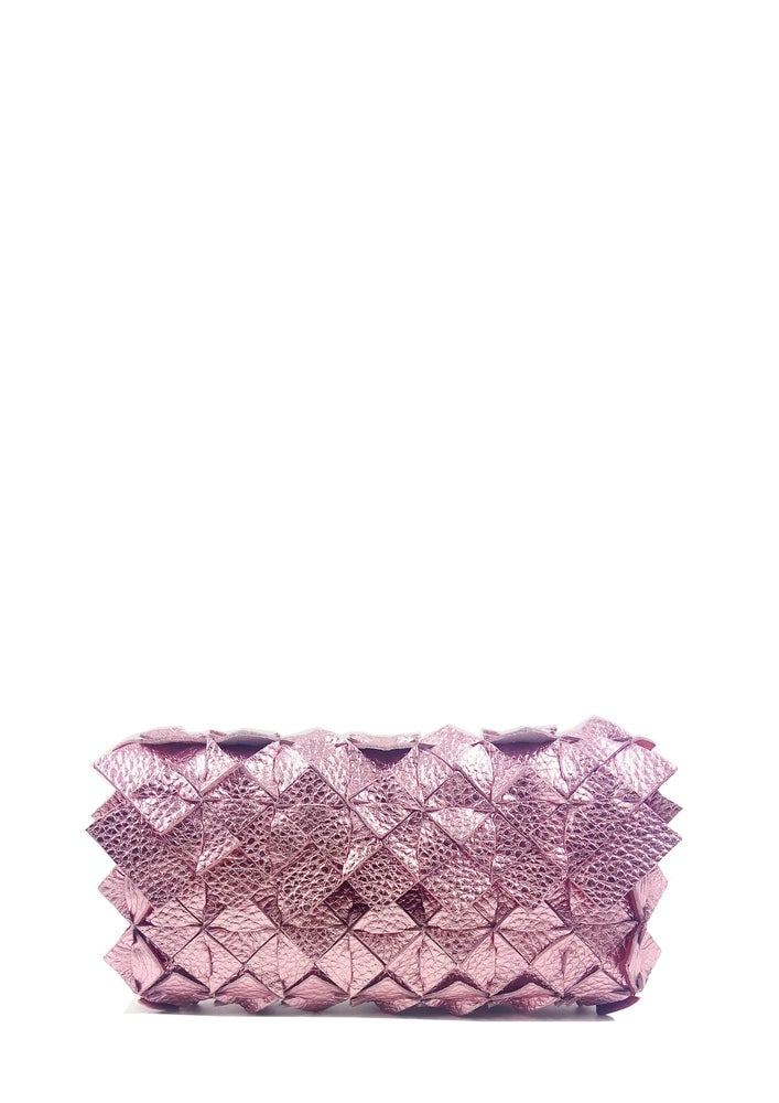 Image of Yup mini clutch metal pink Large