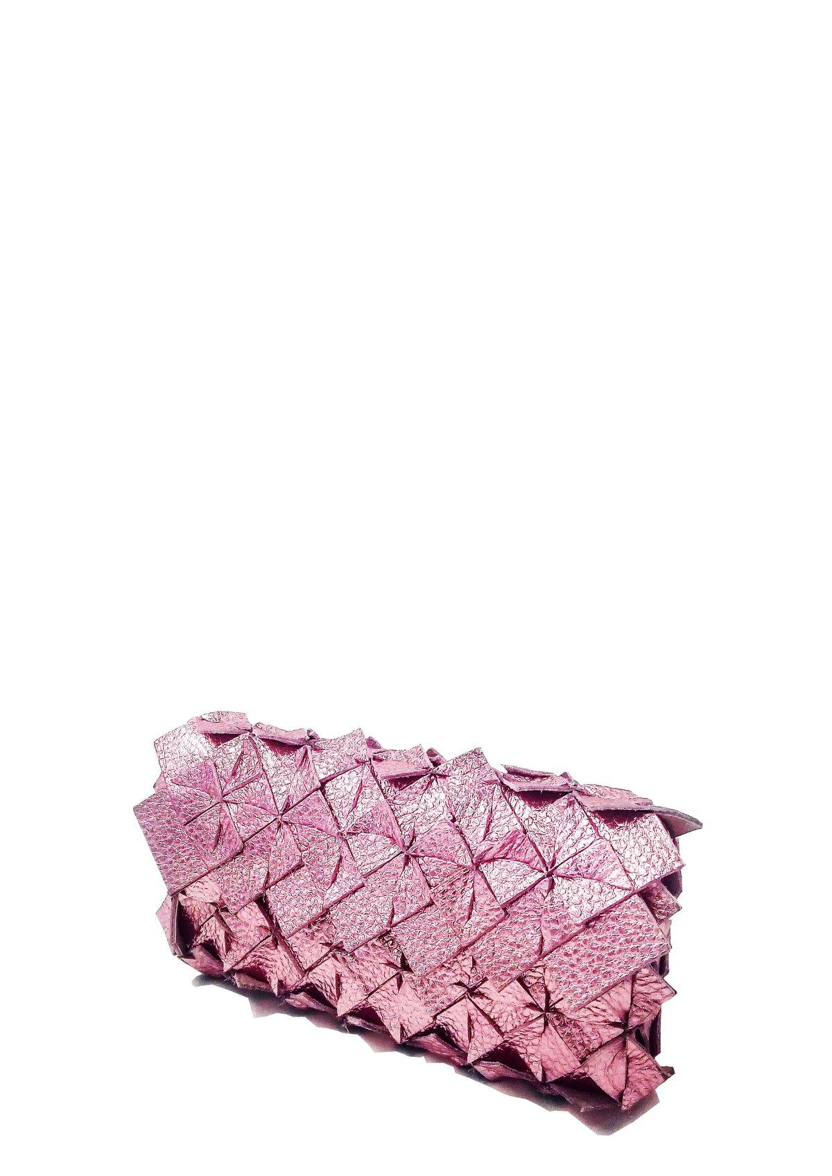 Image of Yup mini clutch metal pink Large