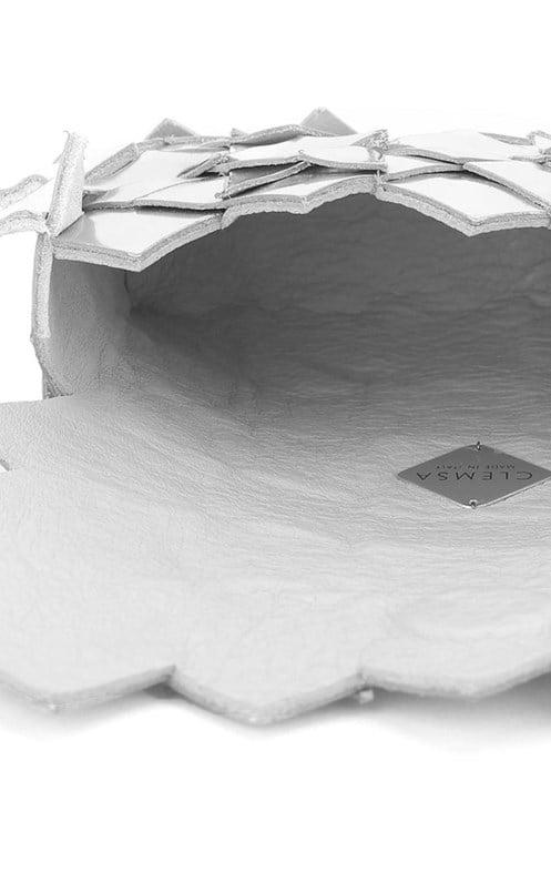 Image of Yup mini clutch in pelle effetto specchio