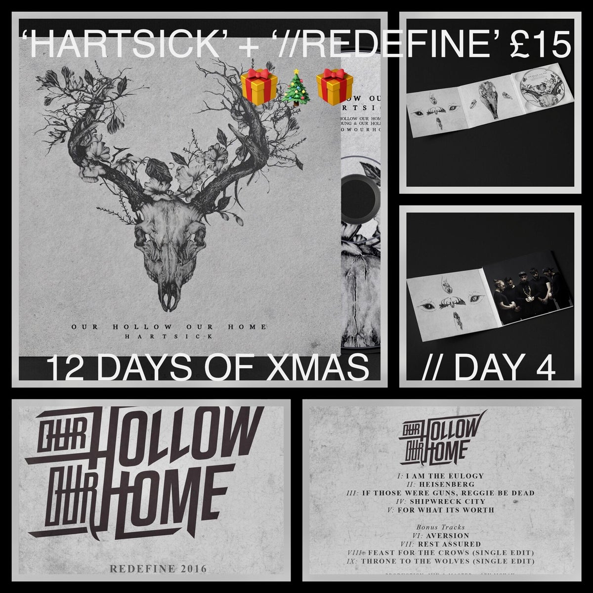 Image of 'HARTSICK' DIGIPACK CD + '//REDEFINE' CD