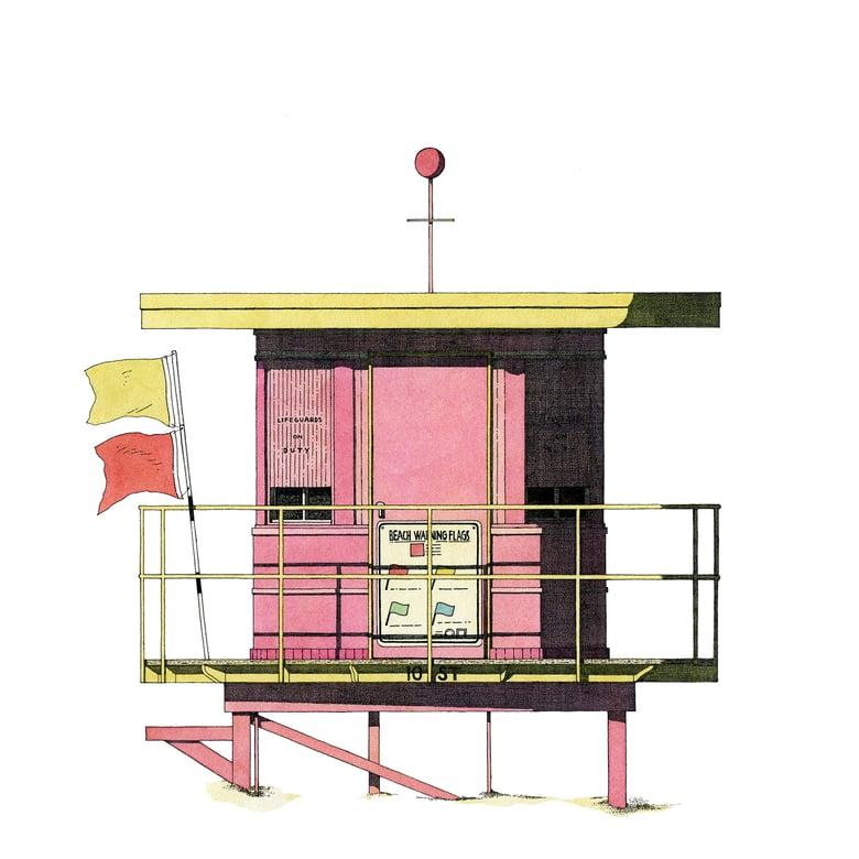Image of Miami Beach hut, USA.