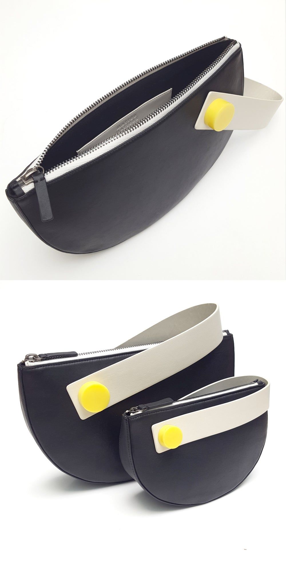 Half Moon Clutch - Black