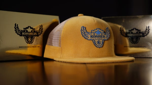 Image of Premium Corduroy Leather SnapBack Trucker Hat