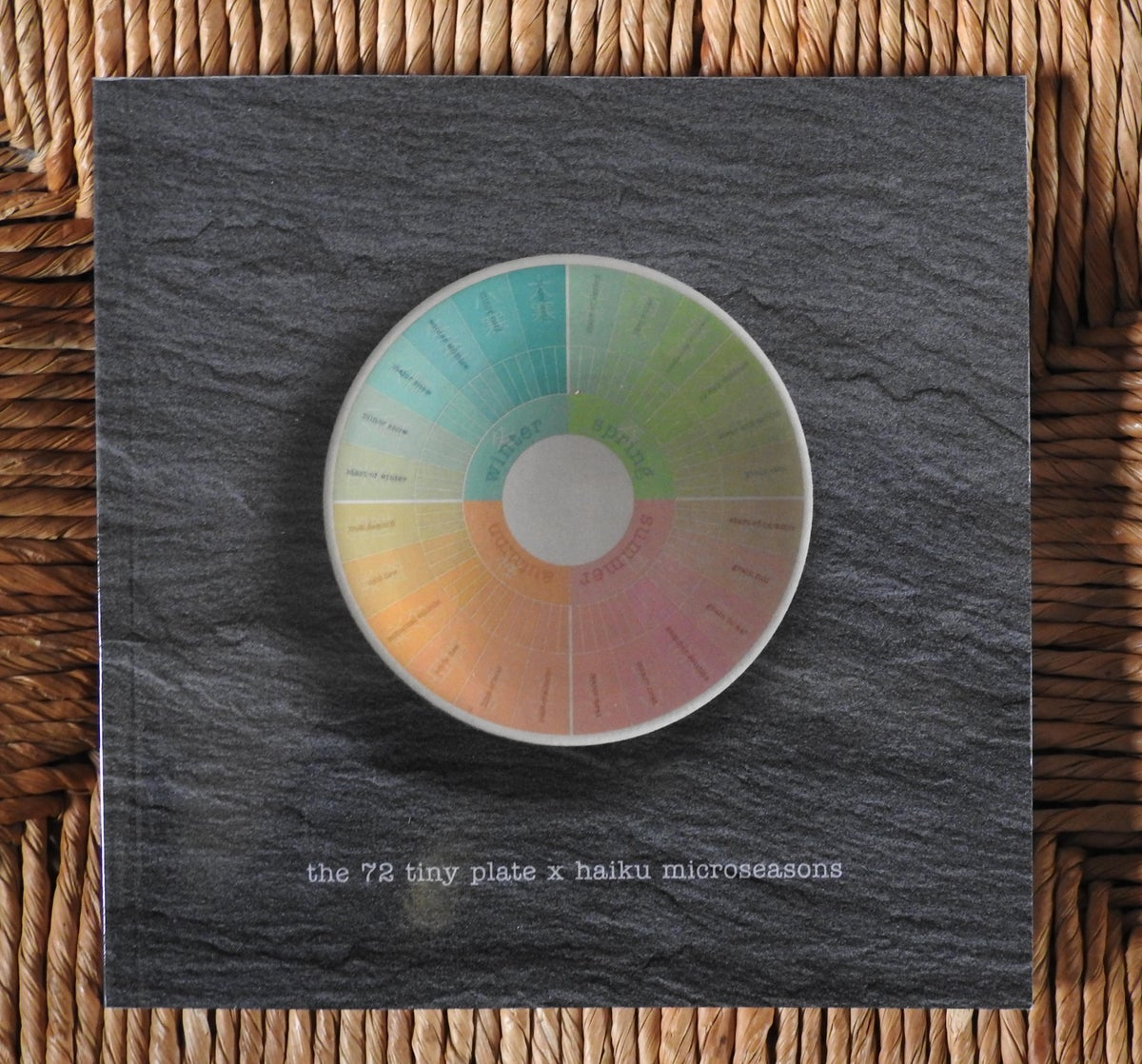Image of 'the 72 tiny plate x haiku microseasons' book