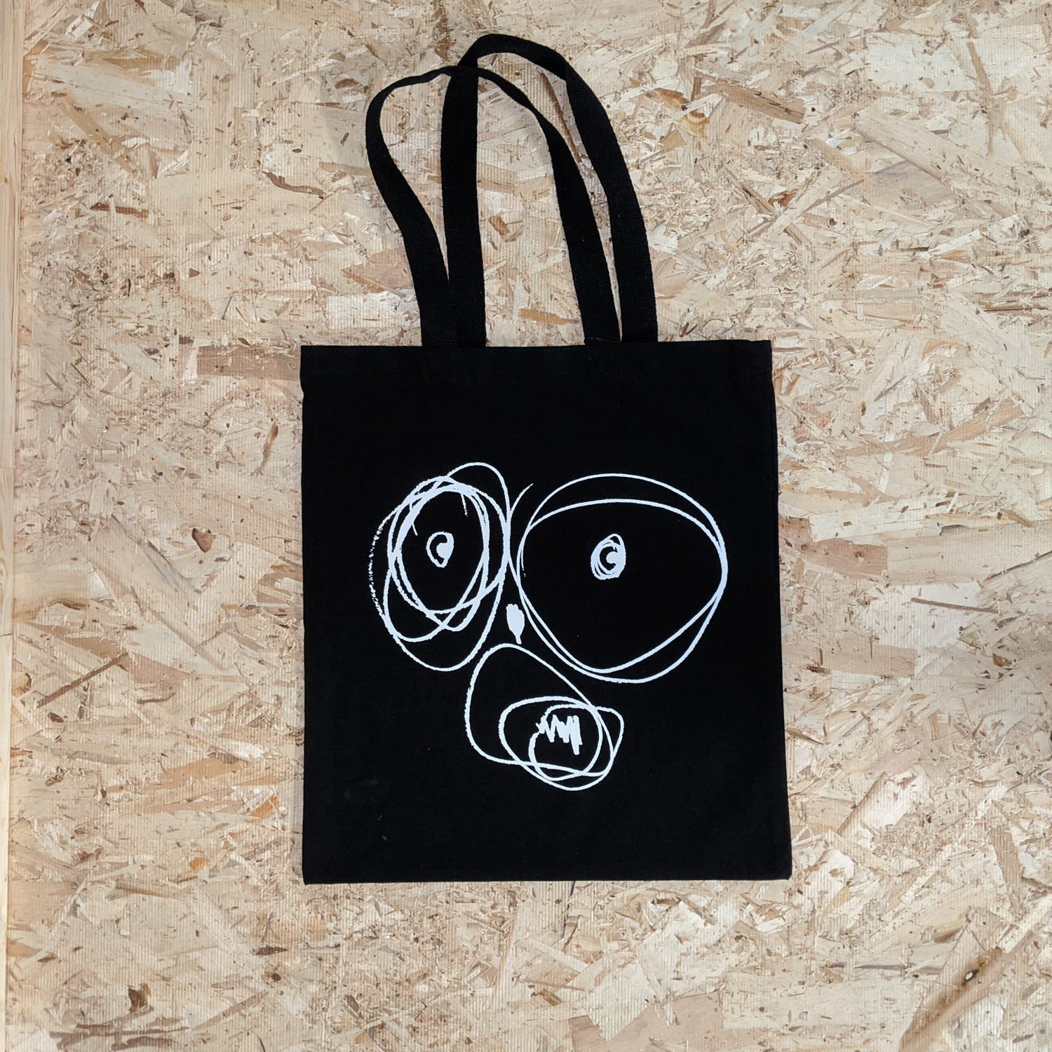 Image of OGSF Tote Bag [WHITE ON BLACK]