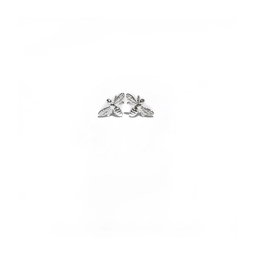 Image of Sterling Silver Mini Bee Stud Earrings