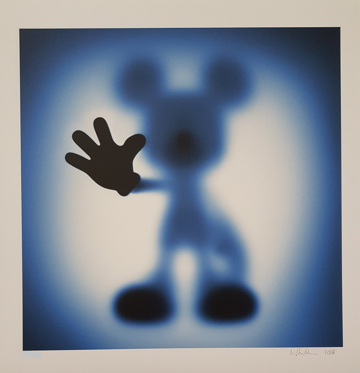 Image of GONE MICKEY (XL BLUE) - LIMITED EDITION OF JUST 25 - 90CM X 90CM
