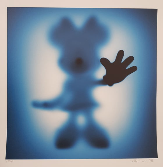 Image of GONE MINNIE (XL BLUE) - LIMITED EDITION OF JUST 25 - 90CM X 90CM