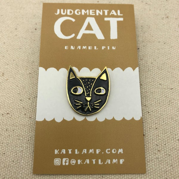 Image of Judgemental Cat Pin