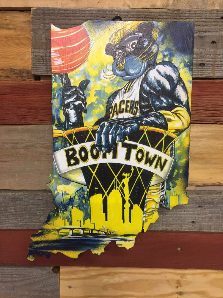 Image of Boom Town ( Hand painted reproduction