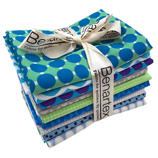 Image of Preorder Gridwork Bundle Breeze, 9 Pieces: Fat Quarters, Half Yards, or Full Yards - Ships in Jan