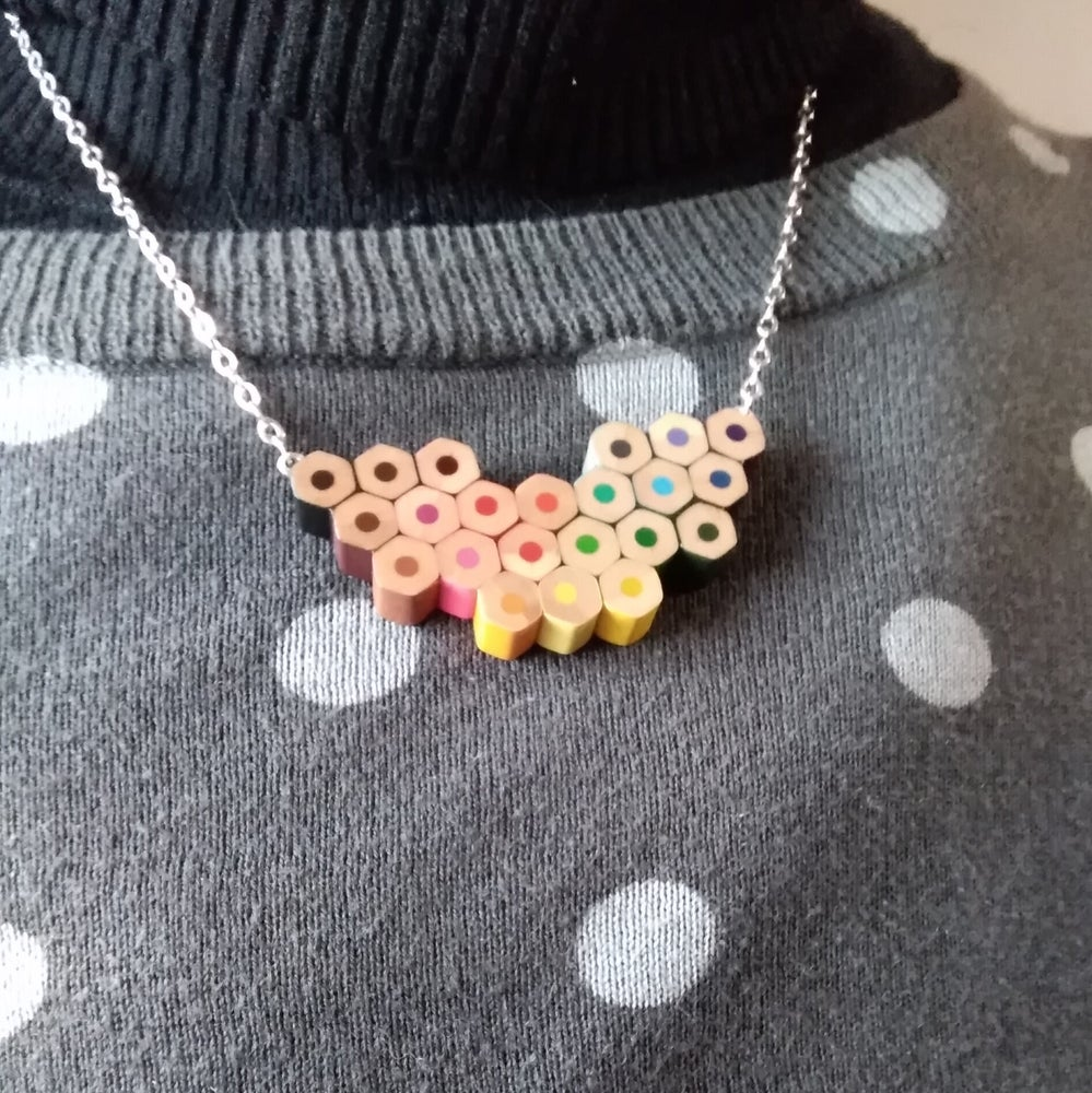 Image of sterling silver colour spectrum necklace