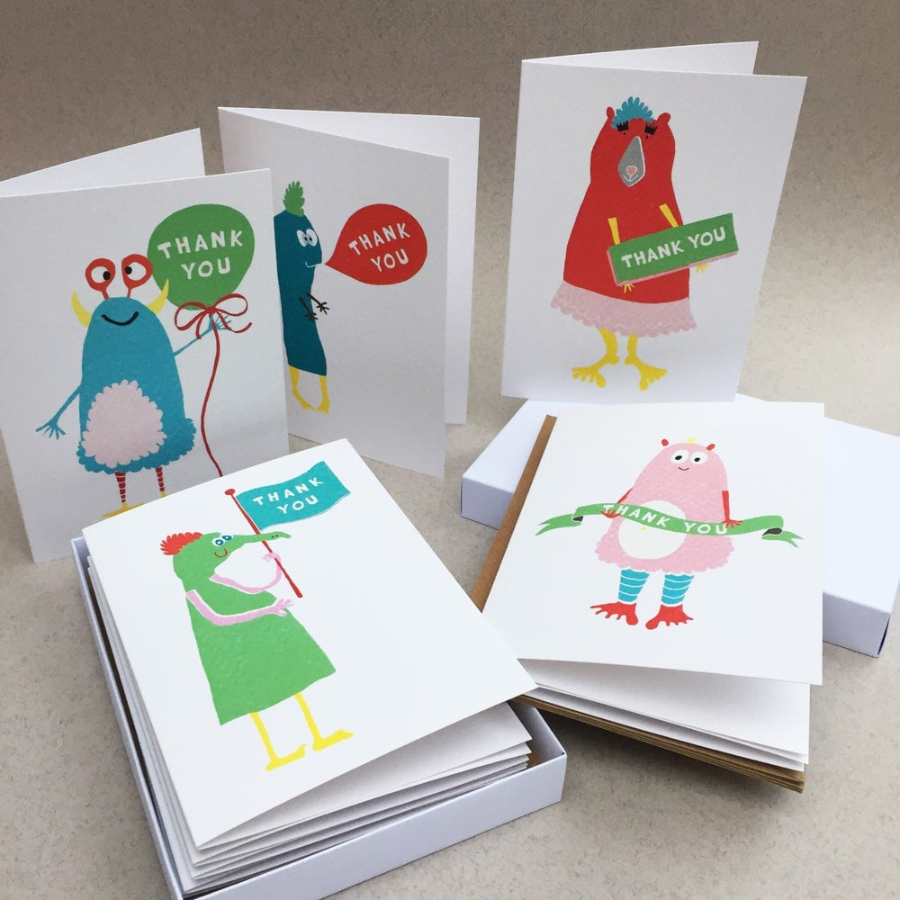 Image of 10 Odd Monster Thank You Cards