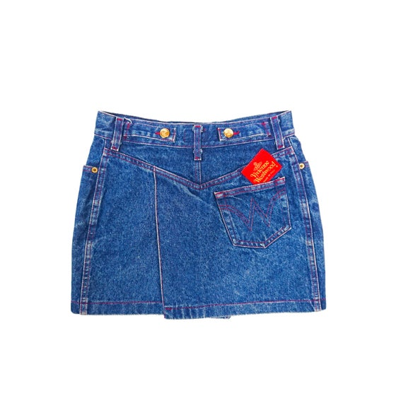 Image of 1992 Vivienne Westwood Denim Mini Skirt