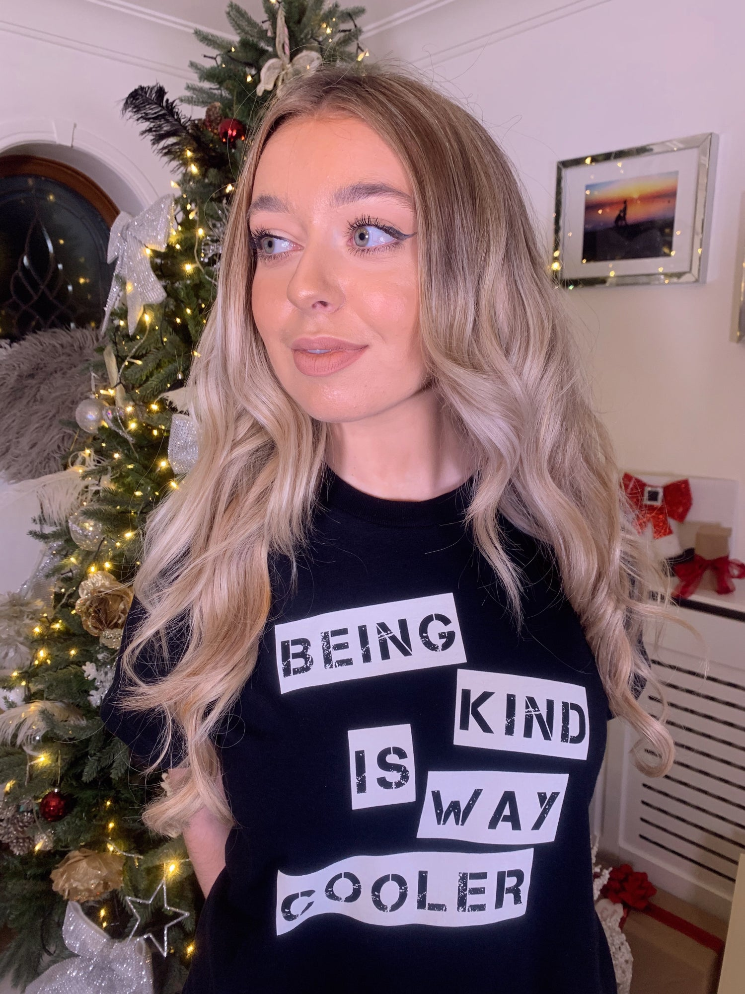 Image of TSHIRT BEING KIND IS WAY COOLER  BLACK