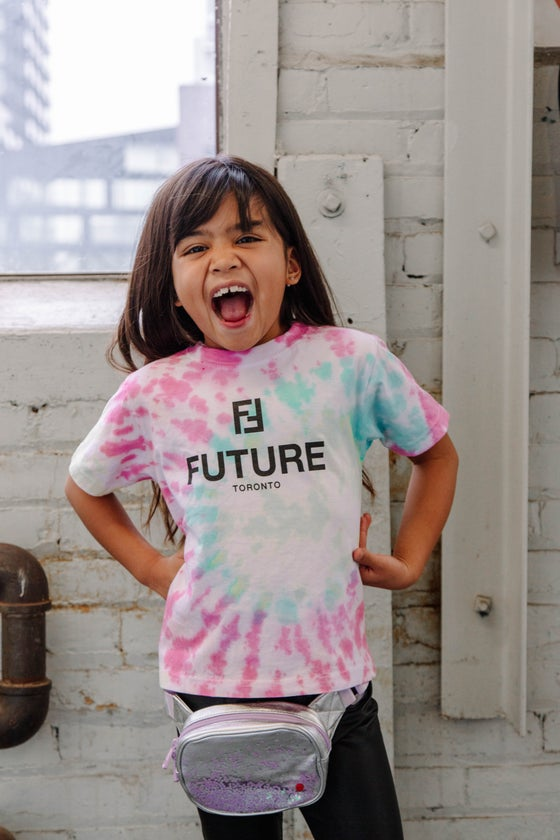 Image of BF x NTM Kids Tie-Dye T-shirt