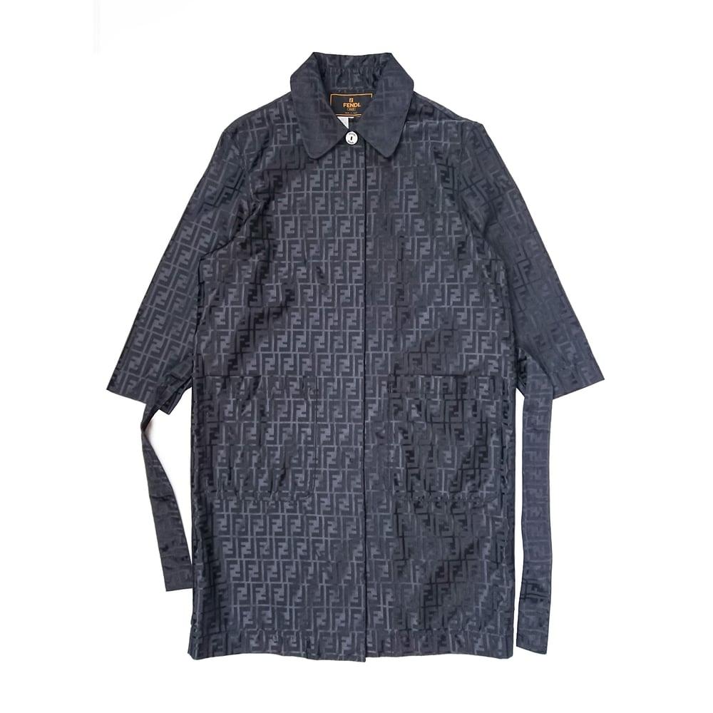 Image of Fendi Monogram Trench Coat