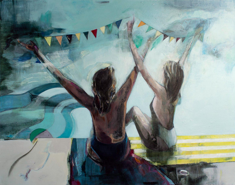 """Image of Painting / maleri / """"The celebration IV"""" / 120x95 cm"""