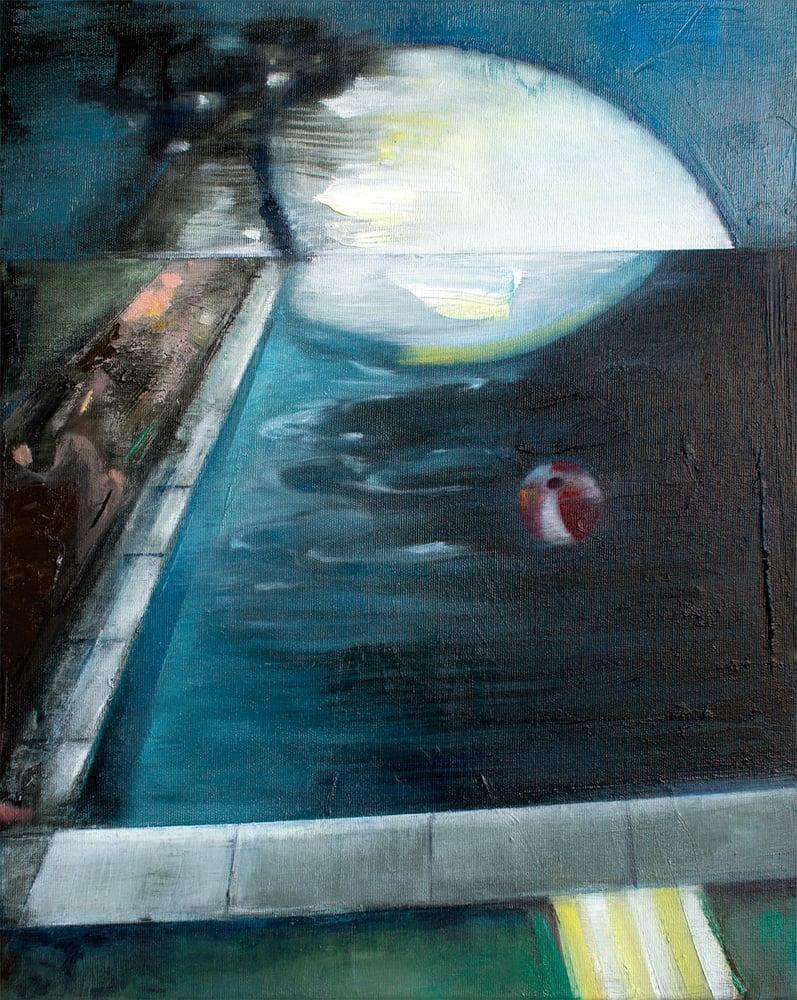 "Image of Painting / maleri / ""Memory of summer I"" / 40x50 cm"