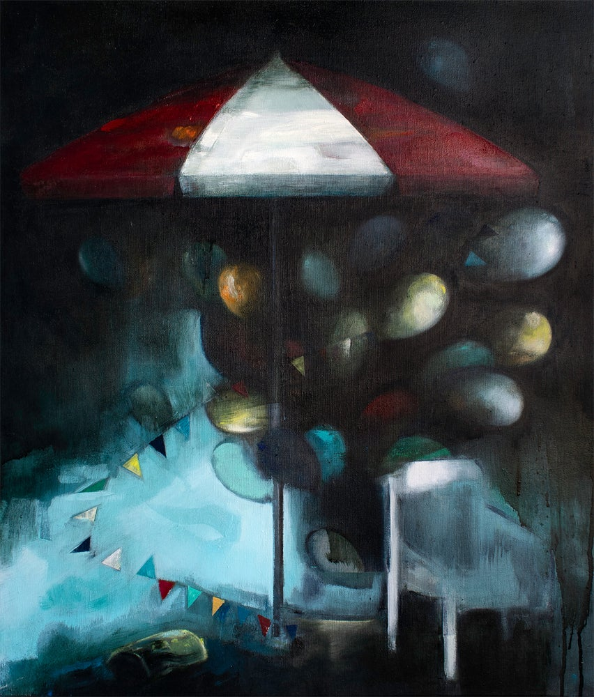 "Image of Painting / maleri / ""Before the storm"" / 60x70 cm"