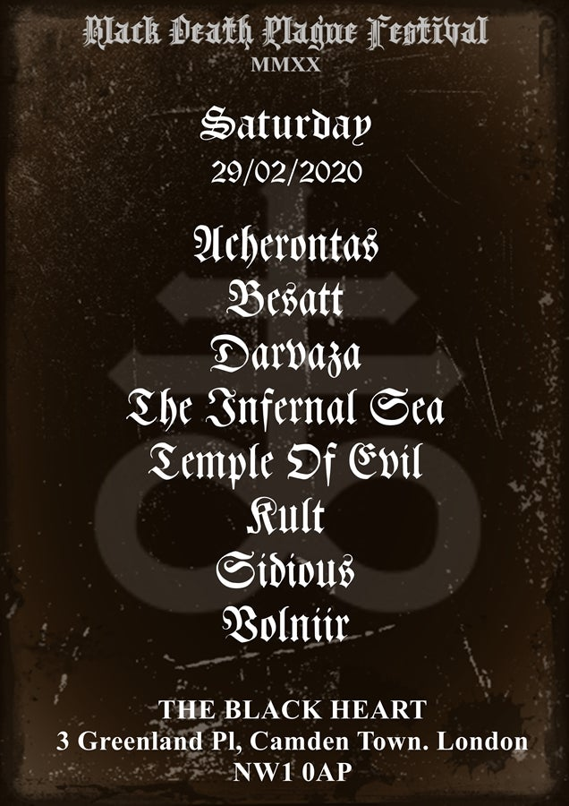 Image of 1-day pass Black Death Plague MMXX Festival SATURDAY