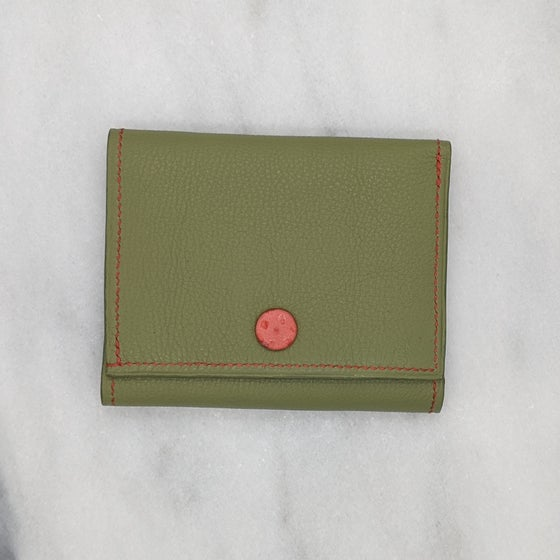 Image of TRIFOLD Wallet with Snap – LIGHT GREEN CUIVRE