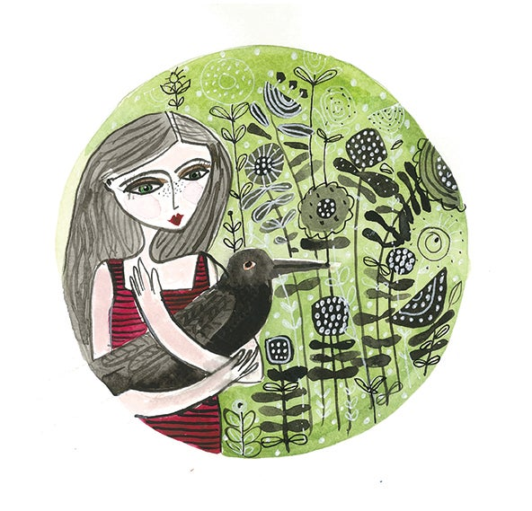 "Image of  ""Girl With Crow"""