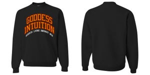 Image of Goddess Intuition Black Crewneck | Exclusive Goddess Aura Release