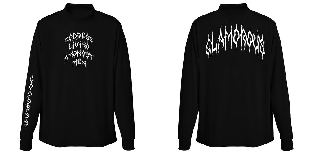 Image of Glamorous Goddess Long Sleeve Black T Shirt | Exclusive Goddess Aura Release
