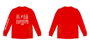 Image of Goddess Without Fear Long Sleeve Red T Shirt | Exclusive Goddess Aura Release