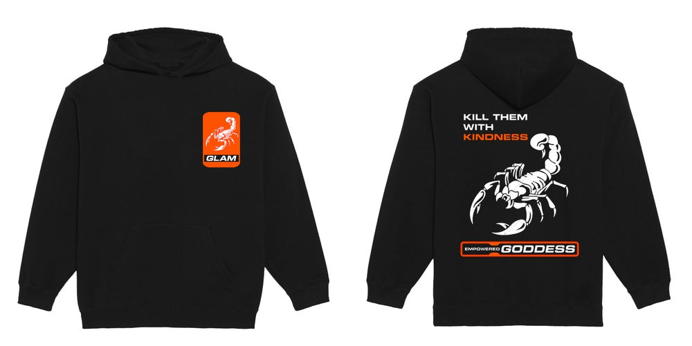 Image of Kill Them With Kindness Black Hoodie | Exclusive Goddess Aura Release