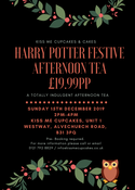 Image of Harry Potter Festive Afternoon Tea - Sunday 15th December 2019