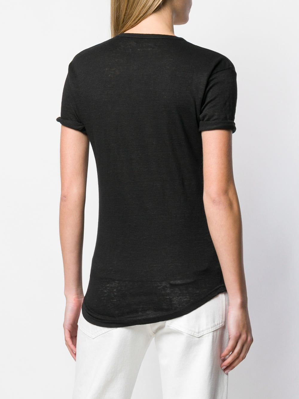 Image of ISABEL MARANT TEE SHIRT KOLDI BLACK