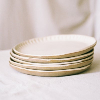 Image of Creamy Plates by Olivia Fiddes