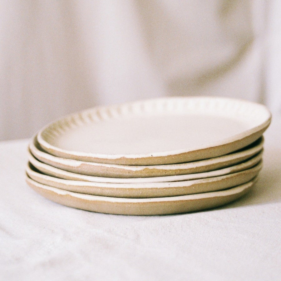 "Image of <span style=""color: #f4cccc;""> NEW</span>  Creamy Plates by Olivia Fiddes"