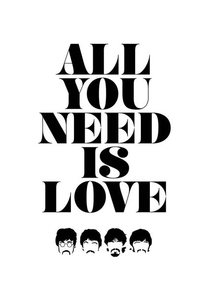 Image of The Beatles - All you need is love - poster