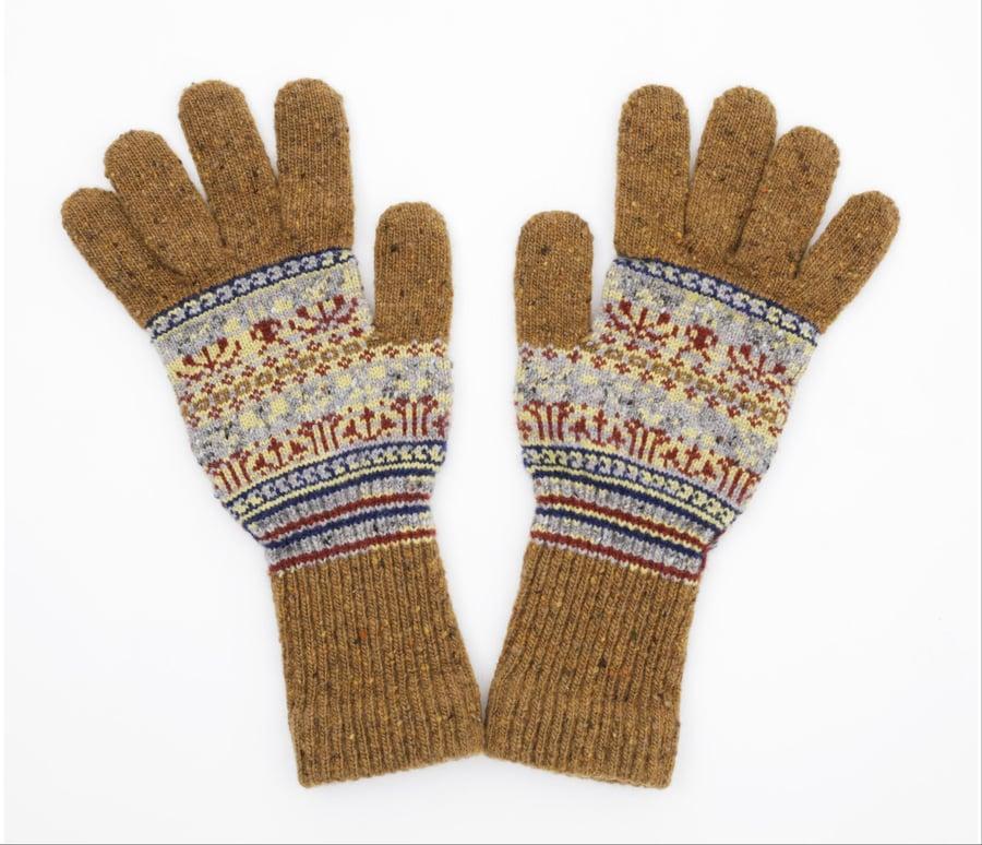 Image of Protia Gloves / Brown Natural
