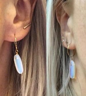 Image of Opalite Drop Hoop Earrings