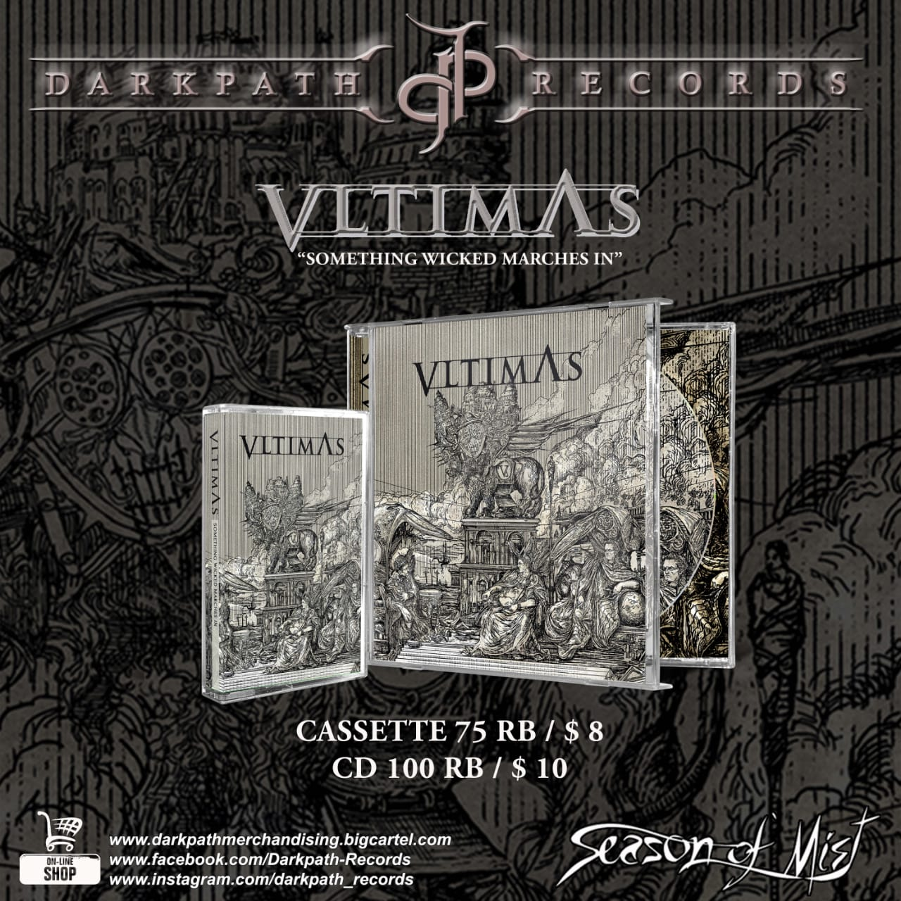 Image of VLTIMAS - Something Wicked Marches In CDs & Tapes