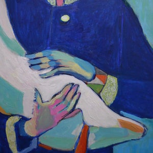 Image of Large Contemporary painting, 'Claudia and Layla' Poppy Ellis