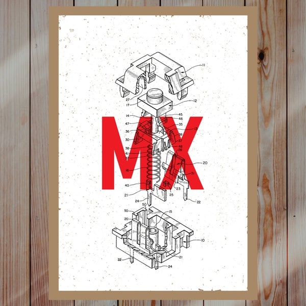 Image of Cherry MX Premium Screen Print (A2)