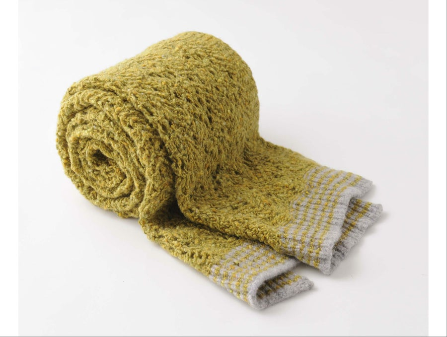 Image of Tweedy Donegal Lacy Shell Shawl / Yellow