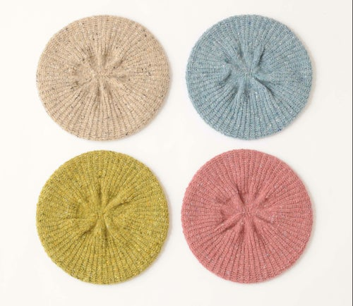 Image of Tweedy Donegal Shell Beret / Mist Blue